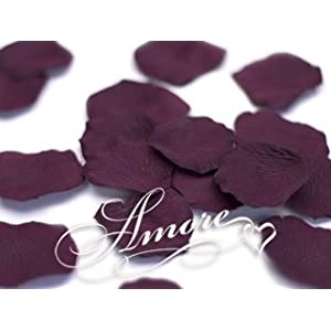 200 Wedding Artificial Silk Rose Petals Rave Wine 89