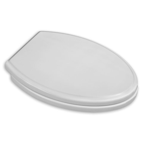 American Standard 5214 Elongated Toilet Seat and Lid with Slow Close and Easy Li, White (Toilet Cover Lid Standard Seat)