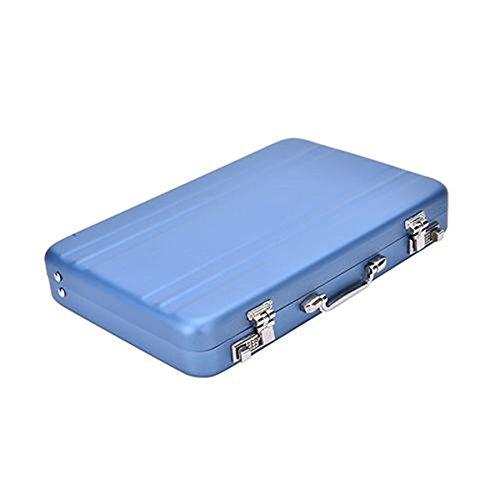 Mini Briefcase Business Card Case Id Holders Password Aluminium Credit Card Holder (blue) - Mini Business Card