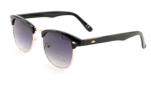 all black clubmaster sunglasses  ASVP Shop庐 Classic Retro 1980\u0027s Vintage Black \u0026 Gold Clubmaster ...