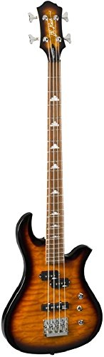 B.C. Rich MPEBTSB 4-Strings Bass Guitar, Tobacco Sunburst ()