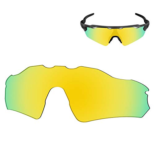 Galvanic Replacement Lenses for Oakley Radar EV Path OO9208 Sunglasses - 24k Polarized