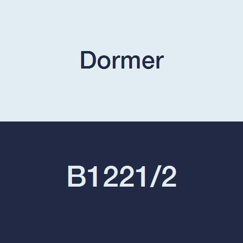"""Dormer B1221/2 Straight Car Reamer, ST/Bronze Coating, High Speed Steel, Head Diameter 0.5"""" Flute Length 3.4"""" Full Length 5.7/8"""""""