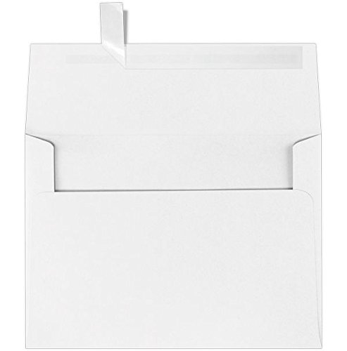 A9 Invitation Envelopes (5 3/4 x 8 3/4) - 60lb. Bright White w/Peel & Press (50 Qty.) | Perfect for Invitations, Greeting Cards, Thank You Cards, Announcements and so much more! | 4895-WPP-50 ()