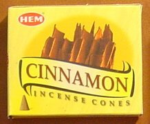 Cinnamon - Case of 12 Boxes, 10 Cones Each - HEM Incense From India