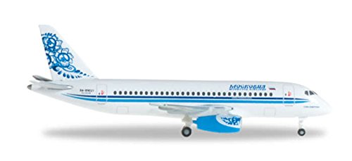 Herpa 527286 Moskovia Airlines Sukoi Superjet 100 1:500 Scale REG#RA-89021