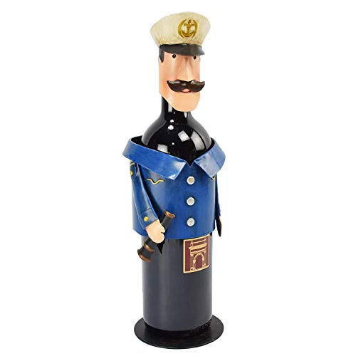Beachcombers Metal Captain Wine Bottle Holder ()