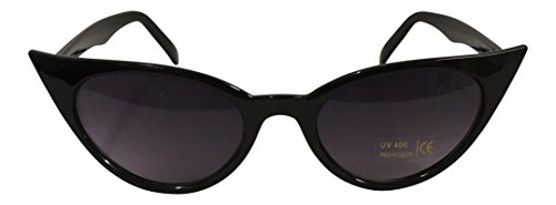 50s de Vintage gato nbsp;mujer nbsp;estilo ojo sol Fashion 1950 Retro de Negro de gafas UV400 xxn8ER