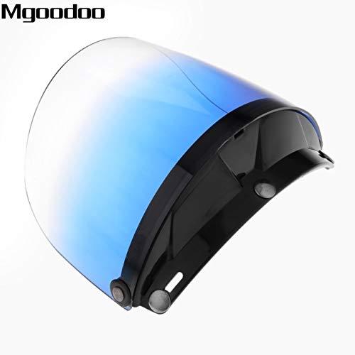 - Daphot-Store - Motorcycle Retro Helmet Shield Lens Capacete Open Face Half Face Helmets Vintage Flight Helmet For 3-snap Visor Sunshade Protect
