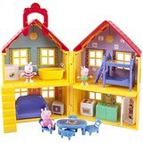 Peppa Pig 3 Piece Set: Peppa Pig's House Playset, The Golden Boots (9 episodes), And Peppa Pig & Family Four Figurines (Peppa Pig George Boots)