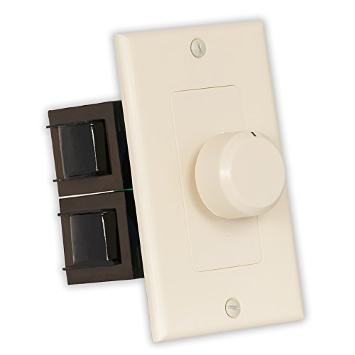 New Almond Wall Mount Impedance Matching Speaker Dial Volume Control Switch TSVCD(A) ()