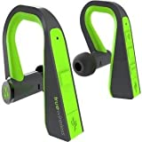 M-Edge International TrueWireless Headphones, Slate/Lime (HP-TW-P-SL)