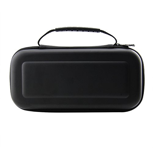 TNTi™ Nintendo Switch - Deluxe Carry Case Travel Bag Kit with advanced EVA hard shell, game storage, screen protector and anti static cloth (Black) from TNT interactive