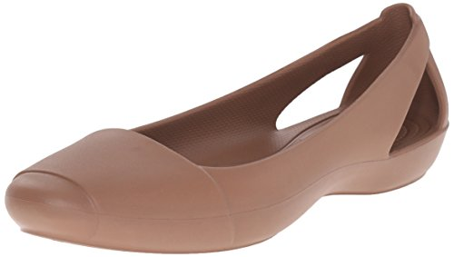 Flat Or Bronze Ballerines Crocs femme Crocs Sienna EwxqP1q0