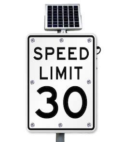 30mph Flashing Speed Limit Sign