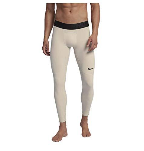 Winter Tight Pro Nike - Nike Men's Pro Premium Dri-Fit Base Layer Tights-Sand-Large