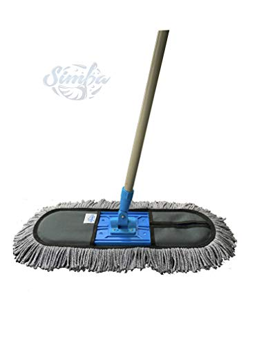 Simba Plastic Cotton Wet and Dry Floor Mop (24-Inch Large)