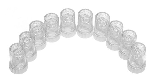 Sports Vision's Contact lens Cases - Standard Barrel Type 10 Pieces CE Marked & FDA Approved (Contact Lenses Case Clean)