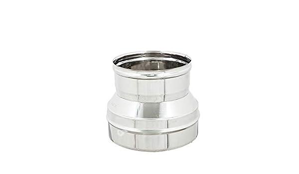 Fer - Reducción/aumento para tubos de chimenea, acero inoxidable AISI 304 6 DC, todos los tamaños: Amazon.es: Bricolaje y herramientas