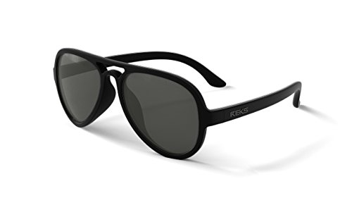 REKS Unbreakable AVIATOR Sunglasses, Anti-Reflective Lens (Satin Touch Black, Smoke - Aviator Unbreakable Sunglasses