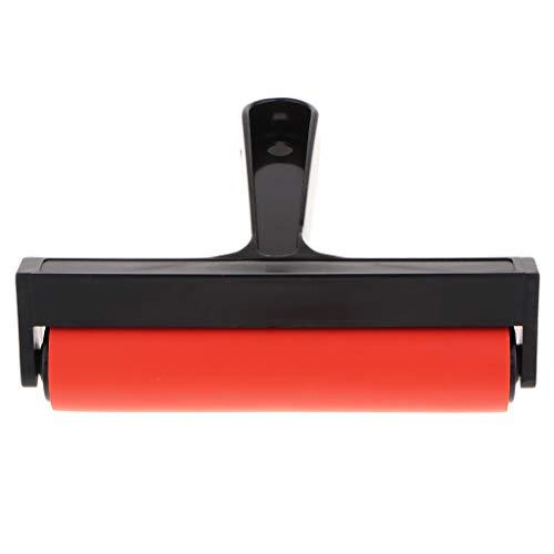 (Hand Rubber Roller Block Brayer Printing Inks Wall Oil Paint Art Craft Tool - 15cm)