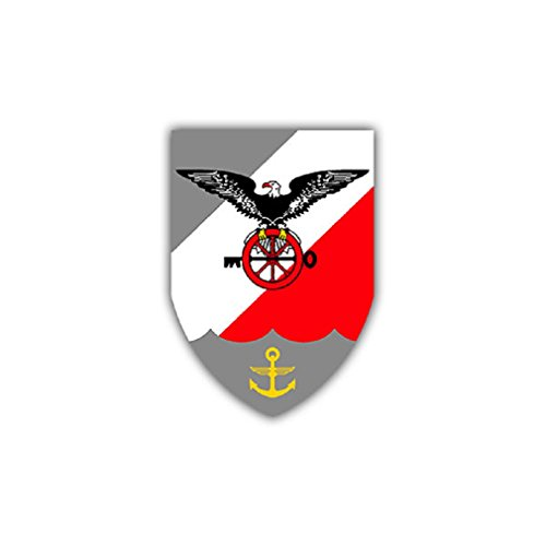 MFG 3 coat of arms badges naval aviation squadron Aviation forces suitable for Audi A3 BMW 3 Series VW Golf GTI Mercedes (7x5cm) - Sticker Wall - Badge Naval