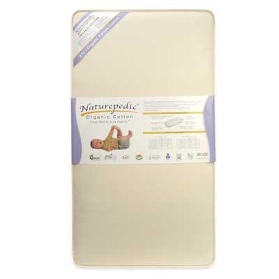Naturepedic Organic Cotton Quilted 2 in 1 252 Seamless Dual Firmness Crib Mattress