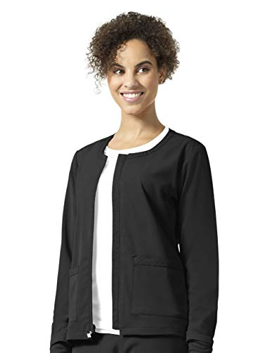 Vera Bradley Halo Collection Women's Julia Zip Front Quilted Warm Up Jacket- Black- Medium