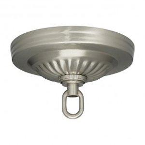 Satco Ribbed Canopy Kit Brushed Nickel Finish - 901846 Nickel Finish Canopies