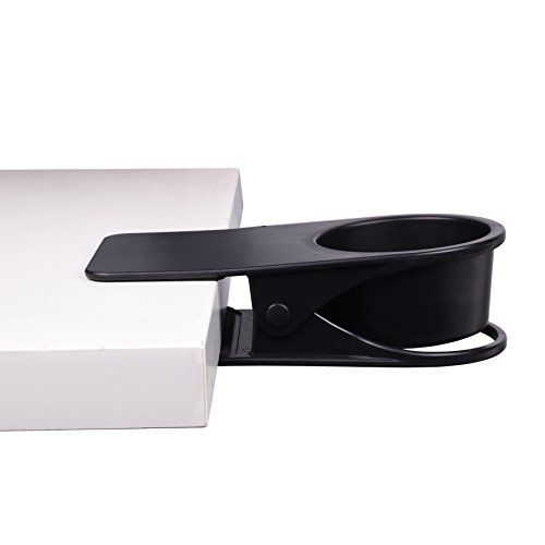 Cosmos Table Desk Side Huge Clip Drinking Cup Holder for Home and Office, Black (Cosmo Side Table)