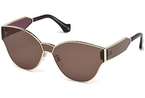 Balenciaga BA0096 Semi Shiny Pale Gold/Brown Fashion Sunglasses