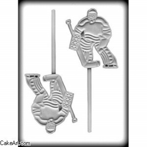 "Clear CK Products 8H-6236 Hockey Goalie Sucker Hc candy-making-molds 9/"" x 6/"""