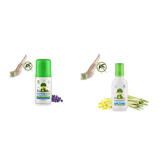 Mamaearth Natural Anti Mosquito Body Roll On, 40ml and Mamaearth Anti Mosquito Fabric Roll On, 8ml