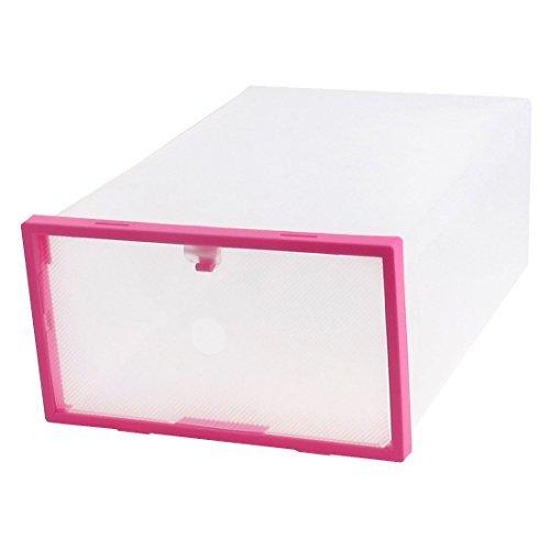 Contenitore Della cassa eDealMax plastica PP FAI da te immagazzinaggio pieghevole cassetto Porta Scarpe Scatola Rosa