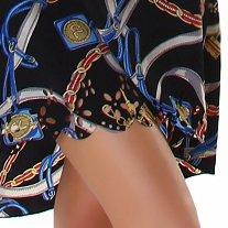 Leichtes Vohuhila Strandkleid Lisa - Black - Größe 34-38 - gestanzter Blumenschnitt
