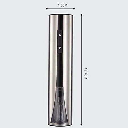 Adesign Abridor de Vino eléctrico, sacacorchos Recargables con línea de Carga USB, colourador, Cortador de láminas, tapón de Bombeo de vacío, Regalo Ideal para Amantes del Vino