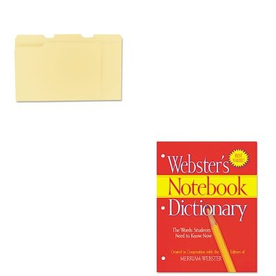 - KITMERFSP0566UNV12113 - Value Kit - Merriam Webster Notebook Dictionary (MERFSP0566) and Universal File Folders (UNV12113)