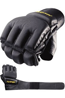 Harbinger 32020 Bag Glove WristWrap, Medium (Black)