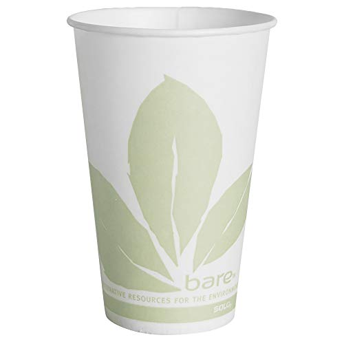 12 Oz Waxed Cold Cup - Solo R12BB-JD110 12 oz Bare Waxed Cold Cup (Case of 2000)