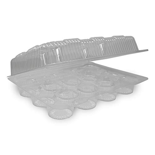Detroit Forming LBH9222 Clear Hinged Cupcake or Muffin Container 100 Per Case