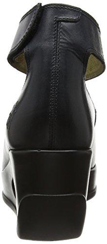 Fly Mujer de Negro Zapatos para Correa Tacon con Heli797fly London Black Tobillo y rvBxZrq