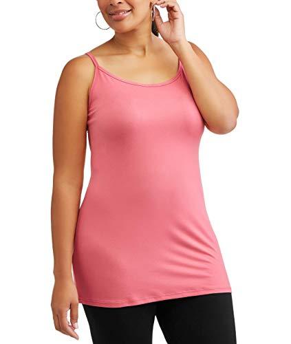 (Women's Plus Extra Long Tunic Cami (Rose Dust, 0X (14W)))