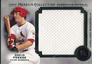(David Freese Unsigned 2013 Topps Museum Collection Jersey Card - Baseball Game Used Cards)