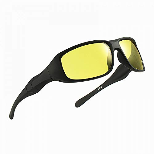 Conductor Vision Vision Night Deportivas Sol Sunglasses vision de Hombres para Gafas Cycling Burenqiq Night Conducción Sol de Outdoor Night Gafas RdqwnBgUT