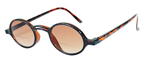 Rodeo Shires Bi Focal Vintage Oval Sun Reader Sunglasses (Tortoise, - Percription Sunglasses