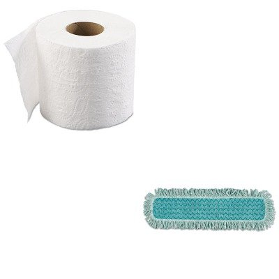 KITBWK6145RCPQ42600GR00 - Value Kit - RUBBERMAID COMMERCIAL PROD. HYGEN Microfiber Fringed Dust Mop Pad (RCPQ42600GR00) and Boardwalk 6145 Two-Ply Bathroom Tissue (BWK6145) by Unknown