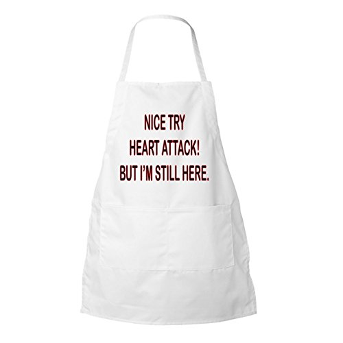 Nice Try Heart Attack But I'm Still Here Inspirational Personalized Chocolate Coffee Tea Mug (apron)