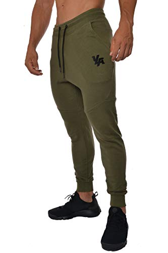 YoungLA French Terry Cotton Sweatpants Jogger Pants Olive Medium