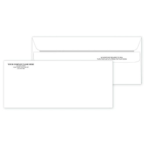 (CheckSimple Personalized #10 Self-Seal Standard Mailing Envelopes - (500 Envelopes) Custom Non-Window)