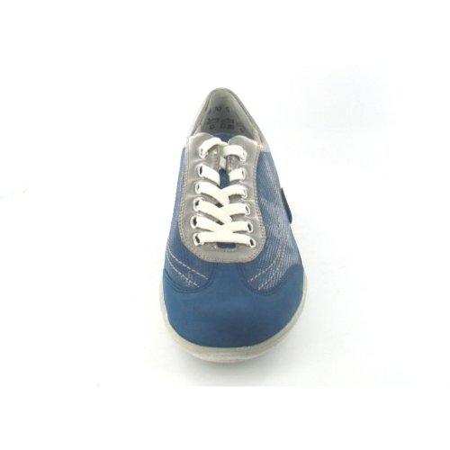 Cuero Cordones De Azul Mujer Waldläufer Zapatos apTq4nxwv